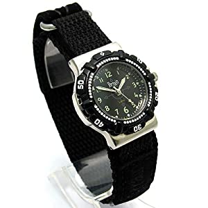 Boys Terrain Watch TV970L Black Dial and Bezel Black Sports Velcro Strap