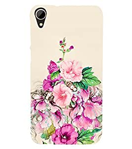 Floral Painting 3D Hard Polycarbonate Designer Back Case Cover for HTC Desire 828 :: HTC Desire 828Q :: HTC Desire 828S :: HTC Desire 828G+ :: HTC Desire 828 G Plus :: HTC Desire 828 Dual Sim