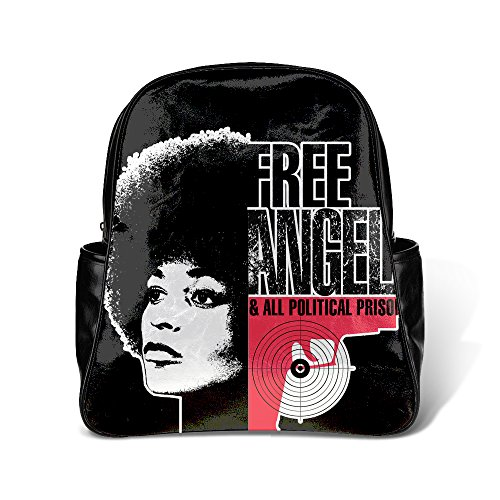 TOMSBILE Custom Angela Davis Free Angela picture of Backpack Students School Bag Casual Backpack Outdoor Backpack Personality Design Backpack (Free Angela Davis compare prices)