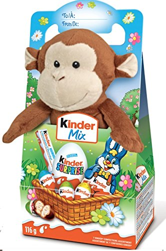 Kinder Mix Gift with Chocolates and Cute Plush Toy.