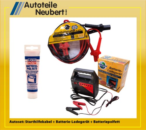 Batteriehilfeset: Starthilfekabel 25qmm + Batterieladegerät