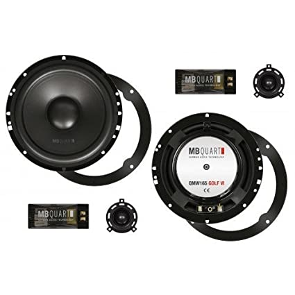 MB qUART qM165 kit audio avec 2 enceintes pour golf vI kit composite 16,5 cm - 165 m² pour golf vI, scirocco iII golf vI, polo 6R