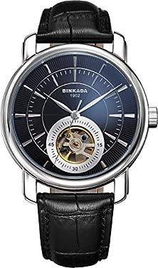 buy Binkada Coolest Automatic Mechanical Black Dial Men'S Chronogrph #708102-2