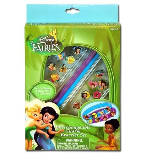 Disney Fairies Interchangeable Charm Bracelet Set