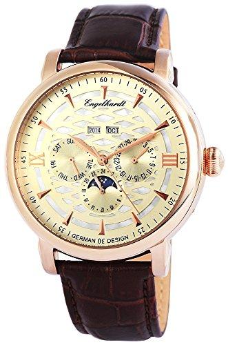 Engelhardt Men's Watch XL Analogue Automatic Leather 388534529004