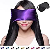 Unscented Eye Pillow - Yoga Eye Pillow for Stress & Migraine Relief - Eye Pillows Made in USA. Use Hot or Cold for Stress Relief, Headaches, Sinus Pain & to Relax. By Happy Wraps The Perfect Gift! (Amethyst)