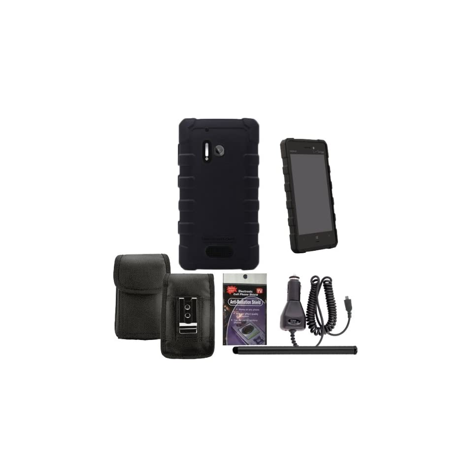 BodyGlove Dropsuit Case for Nokia Lumia 928. Comes with Car Charger, Stylus Pen and Vertical Metal Clip Case that fits your phone with the Cover on it and Radiation Shield. Cell Phones & Accessories