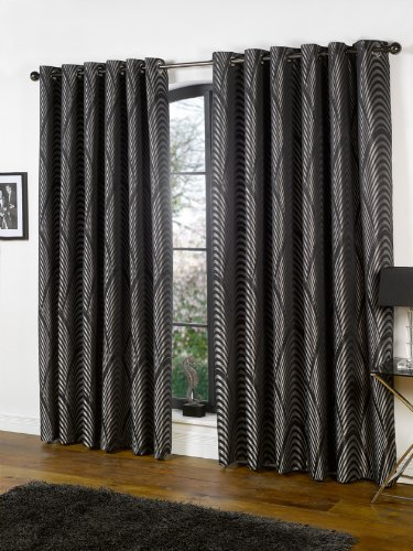 Uk Curtains And Interiors Eltham Black 229cm X 229cm