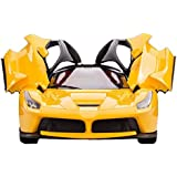 SahiBUY Remote Controlled Ferrari With Opening Doors Car Toy (Yellow)