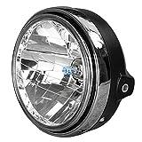 GZYF CB系 8インチ マルチリフレクターヘッドライト ヘッドライトケース、H4バルブ付き バイク パーツ 外装 カスタム ネイキッド ホンダ HONDA