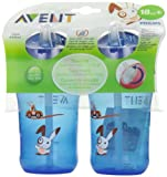 Philips AVENT 12 oz 2 Pack Straw Cups - Boy Colors