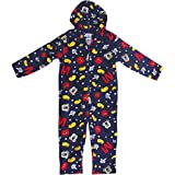 Boys' Navy Blue Disney Mickey Mouse Thermal Super Soft & Fluffy All In One Onesie Pyjamas