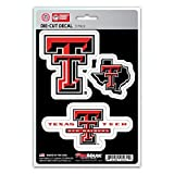 NCAA Texas Tech Red Raiders Team Decal, 3-Pack (Color: Red, Tamaño: Varies)