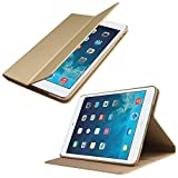 DMG Ultra Thin PU Leather Stand View Smart Case For Apple IPad Mini 2 Mini 3 (Gold)
