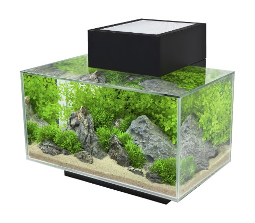 6 gallon Aquarium with 21-LED Light, Black