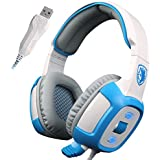 SADES SA906 Pro USB PC Gaming Headset 7.1 Surround Sound Stereo Headband Over-ear Headphones With Microphone Vibration...