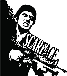 Amazon.com: Scarface Wall Art Decal Sticker Home Decor: Home & Kitchen