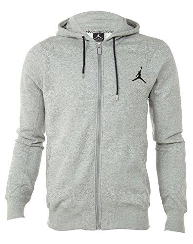 Nike Air Jordan 23/7 Full Zip Mens Fleece Hoodie Dark Grey Heather/Black 547664-063 2XL