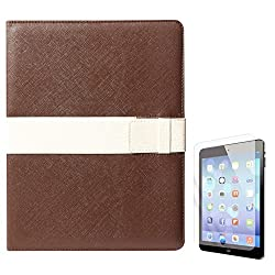 DMG Lishen Smart Case Cover for Apple iPad 2/3/4 (Brown) + Matte Screen