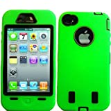 Iphone 4g Super Case - Lime Green/black