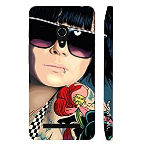 Asus Zenfone 6 COOL TATTOO GIRL designer mobile hard shell case by Enthopia