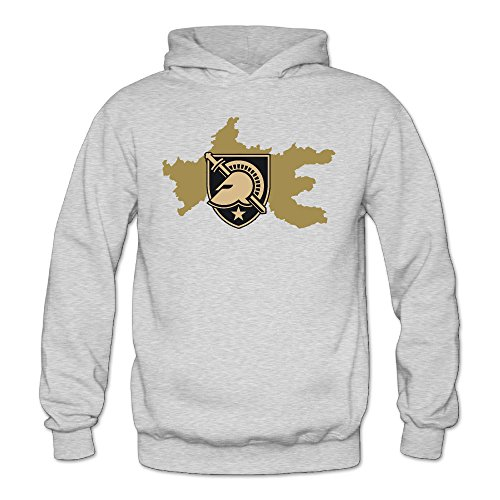 XJBD Women's Army West Point Rep Your Team Novel Hooded Sweatshirt Ash Size XXL (Oversize Crock Pot compare prices)