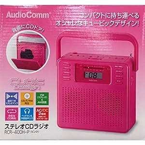 OHM Electron ステレオCDラジオ 400H ピンク RCR-400H-P