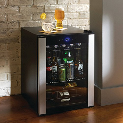 Highest Rated Compact Wine Beverage Cooler Refrigerator- Counter Top Compact Wine Beer Beverage Cellar 20 Bottle (Bordeaux) Capacity- Portable Stainless Steel 2-Shelves LED Lighting Digital Controls (Beverage Refrigerator Bar compare prices)