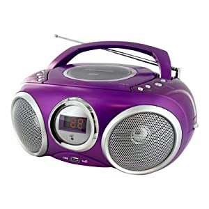 lecteur radio cd mp3 usb violet high tech. Black Bedroom Furniture Sets. Home Design Ideas