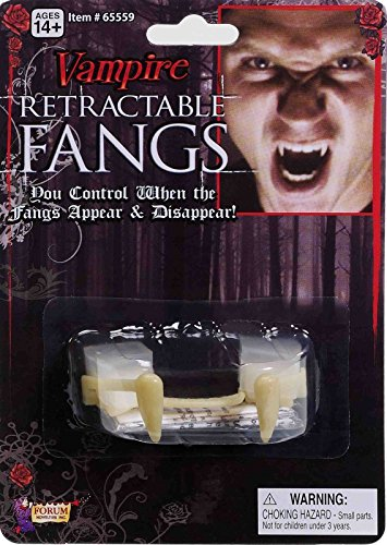 [Special Fx Deluxe Dracula Disappearing Retractable Vampire Teeth Fangs Costume] (Retractable Vampire Fangs)