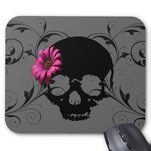 Flower skull Mousepad