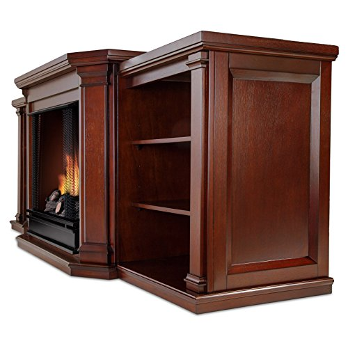 Real Flame Valmont Entertainment Center Ventless Gel Fireplace Dark Mahogany Lowes Electric