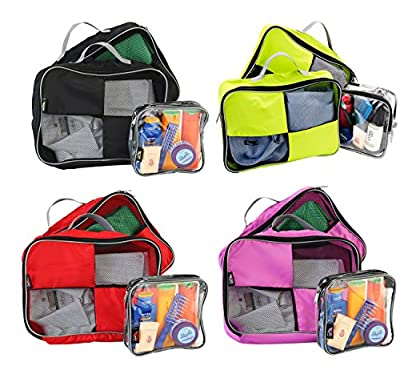 Packing Cubes / Organisers For Easy Packing And Toiletry Bag 20x20x10 Hand Luggage Approved Solution