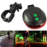 Cycling Bike Bicycle 5-LED Laser Beam Rear Tail Light Lamp