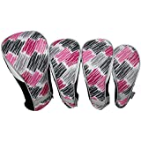 Curtain Call : Taboo Fashions 4-Pack Designer Golf Club Cover Head Cover Set