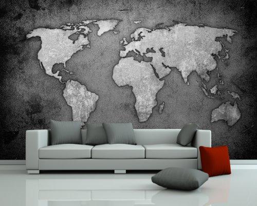fototapete weltkarte g nstig kaufen. Black Bedroom Furniture Sets. Home Design Ideas