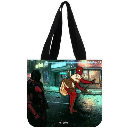 """ARTSWOW Batman, riutilizzabile, motivo: tela Eco Shopping Tote-Borsa da donna Tote, 02, 2 lati, Tela, color-3, 12.2"""" x 11"""" x 3.3"""""""