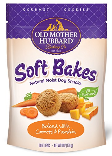 Old Mother Hubbard Gourmet Goodies Soft Bakes Carrot & Pumpkin Natural Soft Dog Treats, 6-Ounce Bag