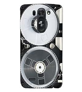 ColourCraft Retro Video Cassette Design Back Case Cover for LG G3 BEAT