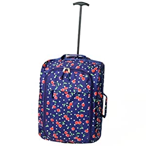 Borderline Cherry Cabin Approved Soft Wheeled Bag (Navy Cherry)