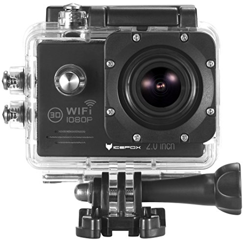 """Action Sports Camera-icefox (R) Waterproof WIFi Action Camera 12MP 1080P HD 2.0""""LCD Diving Helmet Sports Car Camera with Free Accessories Kit (Black)"""