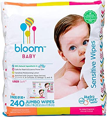 bloom +KIND Jumbo Sensitive Baby Wipes Unscented