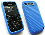 EMARTBUY NOKIA E72 LCD SCREEN PROTECTOR AND DIAMANTE SILICON CASE/COVER/SKIN BLUE