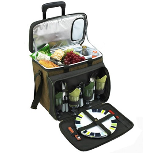Picnic at Ascot Eco Picnic Cooler for 4 with Wheels
