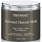 The BEST Charcoal Creme Mask 8.8 fl. oz.- Best for Facial Treatment, Minimizes Pores & Reduces Wrinkles, Acne Scars, Blackheads & Cellulite - Safe for Use on Face & Body