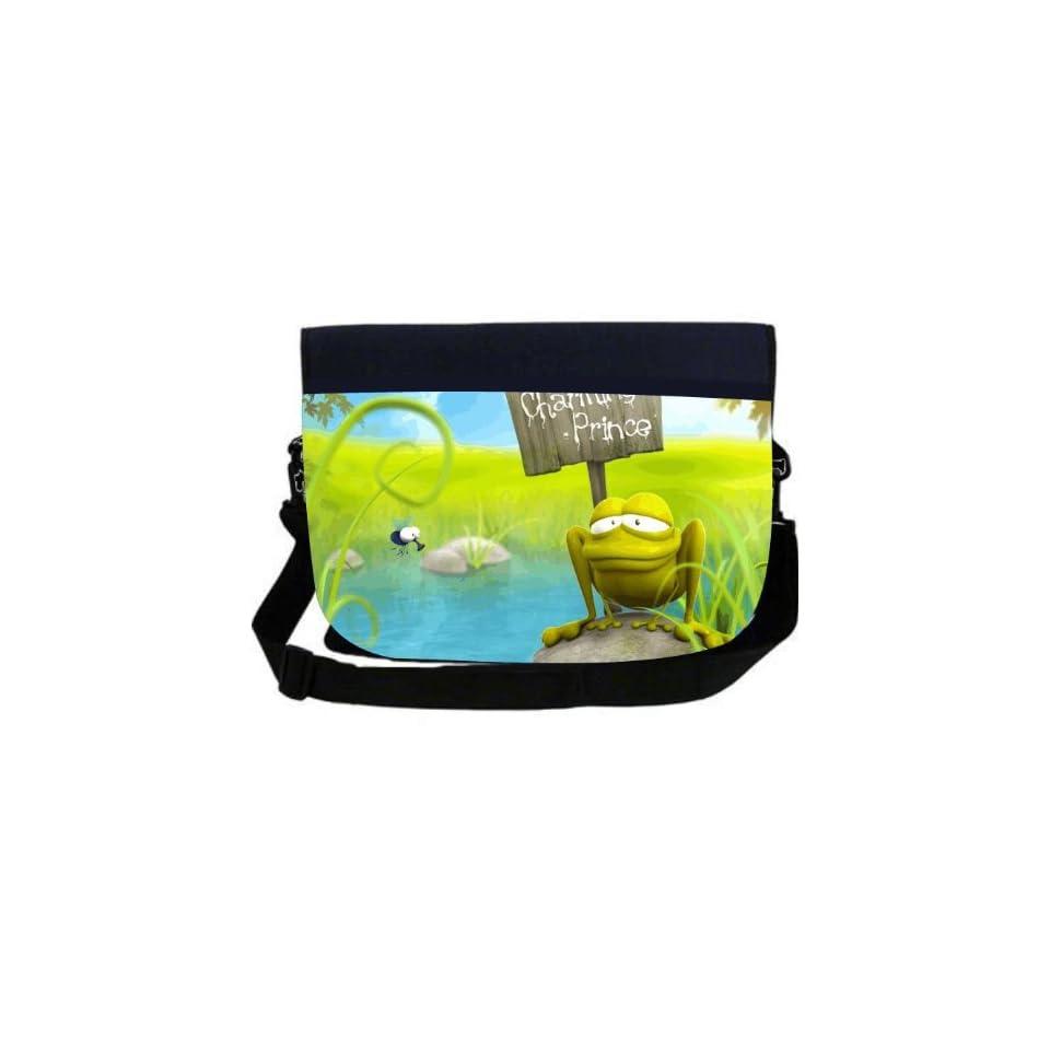 Rikki KnightTM Prince Charming Frog Neoprene Laptop Sleeve Bag Messenger Bag   Laptop Bag  Notebook Bag   for Macbook, Macbook Pro, Aspire, Samsung, Acer, ASUS, Dell, HP, Lenovo, Sony, Toshiba Unisex   Ideal Gift for all occassions