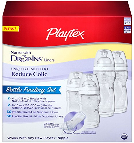 Playtex BPA Free Premium Nurser Bottles with Drop In Liners Gift Set