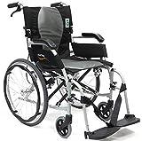 "New Karman Ergo ( S-2512Q16SS ) Flight Ultra Lightweight Ergonomic Wheelchair with Quick Release Wheels, 16"" Seat Width & FREE Wheelchair Seatbelt!"