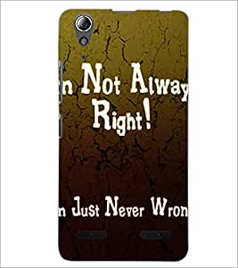 PrintDhaba Quote D-2876 Back Case Cover for LENOVO A6000 (Multi-Coloured)