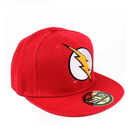 DC Comics The Flash uomo snap back Cap - Lightning Logo cappellino da Baseball rosso